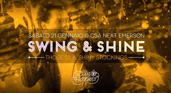 Sab 21 gennaio – Swing and shine