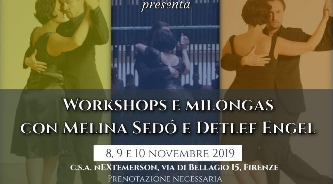8-9-10 novembre – Stages e Milongas