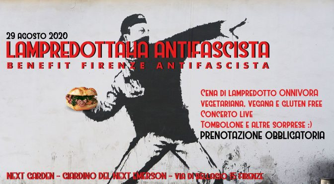 sab 29/08 Lampredottaha Antifascista – Benefit Firenze Antifascista